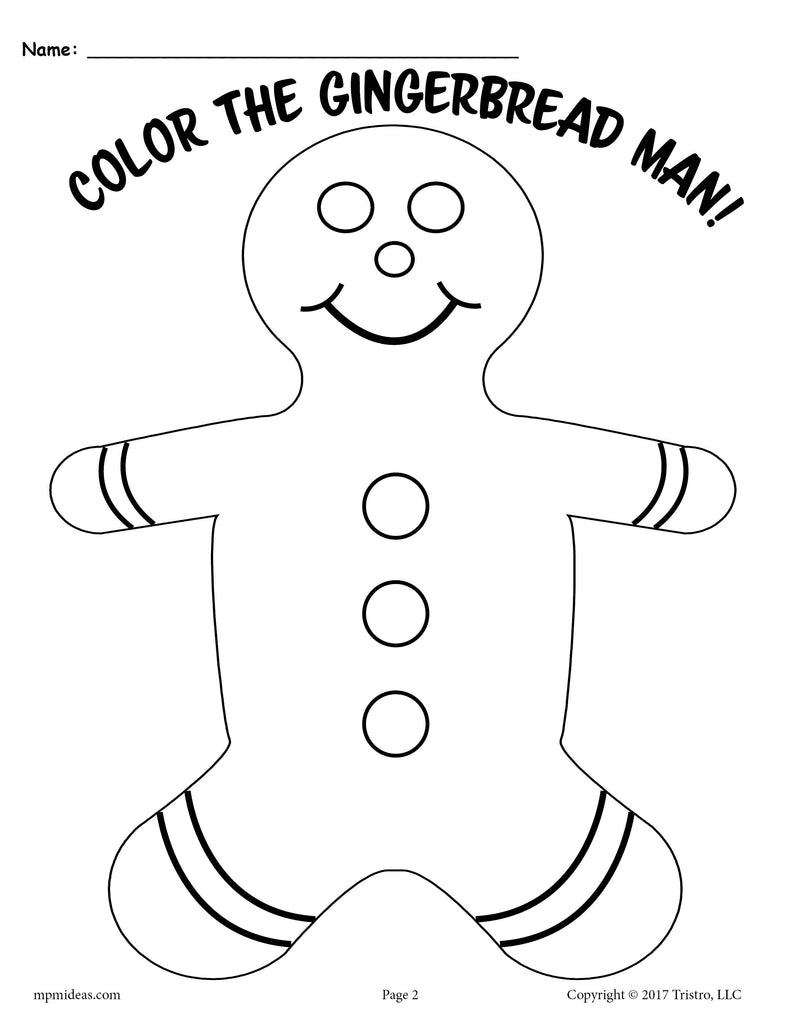 3 Printable Gingerbread Man Activities! - SupplyMe
