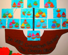 Festive Columbus Day Classroom Display!