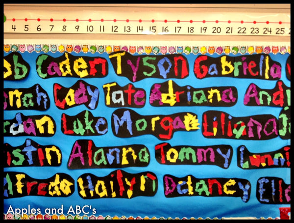 Quot What S In A Name Quot Colorful Back To School Bulletin