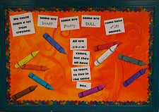 A Lesson From Crayons…Classroom Bulletin Board Idea
