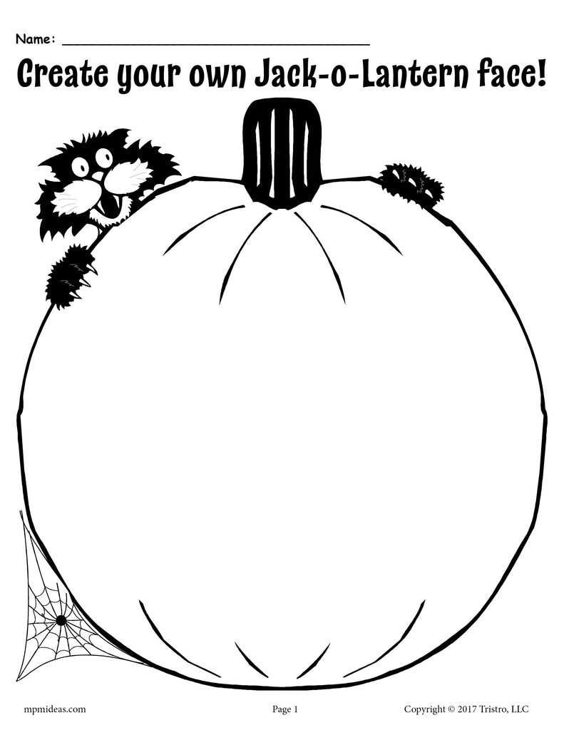 graphic relating to Jack O Lantern Printable referred to as Build Your Private Jack-O-Lantern No cost Printable! SupplyMe
