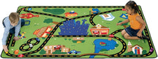 "Cruisin' Around the Town Road Play Room Rug, 3'10"" x 5'5"" Rectangle"