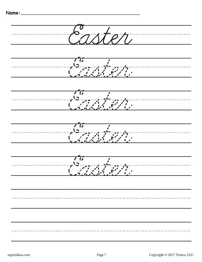 10 free cursive handwriting worksheets seasons and. Black Bedroom Furniture Sets. Home Design Ideas