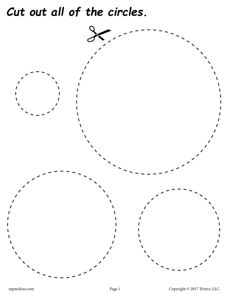 Circles Cutting Worksheet