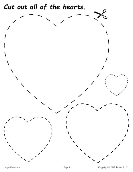 FREE Hearts Cutting Worksheet