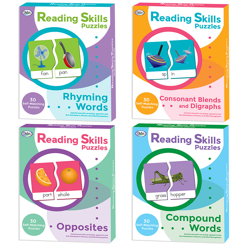 Reading Skills Puzzles: Complete Set