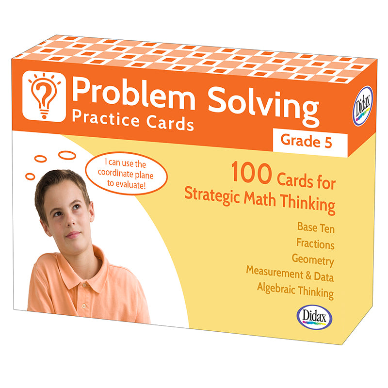 Problem Solving Practice Cards, Grade 5