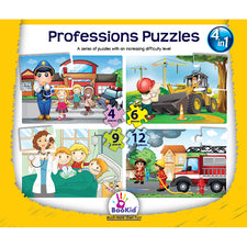 4-in-1 Puzzles: Professions