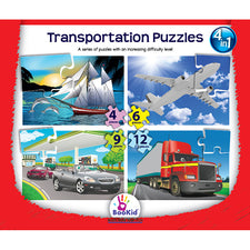 4-in-1 Puzzles: Transportation