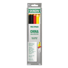 Dixon CHINA Markers, Assorted 4Pk
