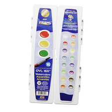 Prang Water Colors, 16 Colors, Oval