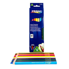 Prang Large Triangular Colored Pencils, 12 Color Set