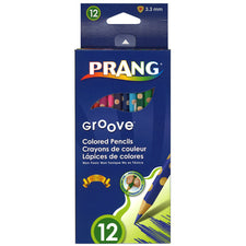Prang Groove Colored Pencils, 12 Count