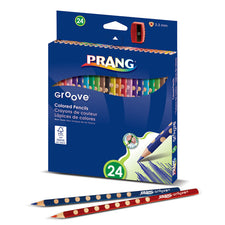Prang Groove Colored Pencils, 24 Count