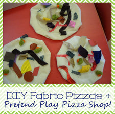 DIY Pizzas for a Pretend Play Pizza Shop!