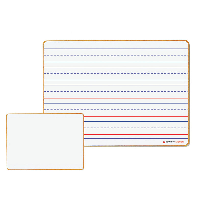 Magnetic Double-Sided Dry-Erase Board, Lined & Blank