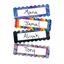 Zigzags & Lightning Name Plates, Set of 16