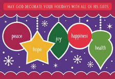 May God Decorate Your Holidays With All Of His Gifts! - Christmas Bulletin Board