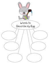 Easter Vocabulary Craftivity & Printable