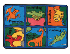 "Dino-mite Dinosaur KID$ Value Discount Play Room Rug, 3' x 4'6"" Rectangle"