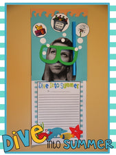 Dive Into Summer! - End of the Year Bulletin Board