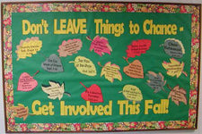 Advertising Classroom Events & Volunteer Openings Fall Leaves Bulletin Board Idea