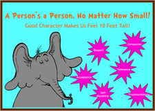 """A Person's A Person..."" - Dr. Seuss Themed Character Board"