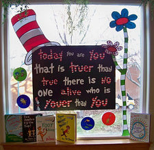 Dr. Seuss Window Display