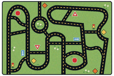"Drive & Play Road Rug, 3' x 4'6"" Rectangle"