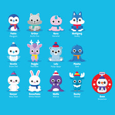 Playfoam® Pals™: Snowy Friends, 6 Pack