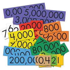 Sensational Math™ 10-Value Decimals to Whole Numbers Place Value Cards