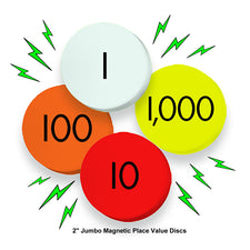 Sensational Math™ 4-Value Jumbo Magnetic Place Value Demonstration Discs Set
