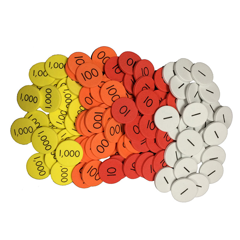 Sensational Math™ 4-Value Whole Numbers Place Value Discs, 12-Pack