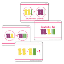 Sensational Math™ Hands-On Tally Marks™ Activity Cards, Grade 1