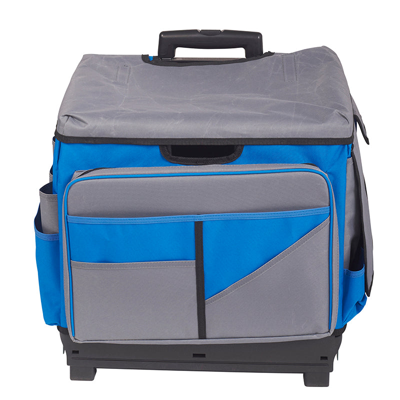 teacher rolling cart organizer gray blue roll cart organizer bag elr0550bbl supplyme 27117