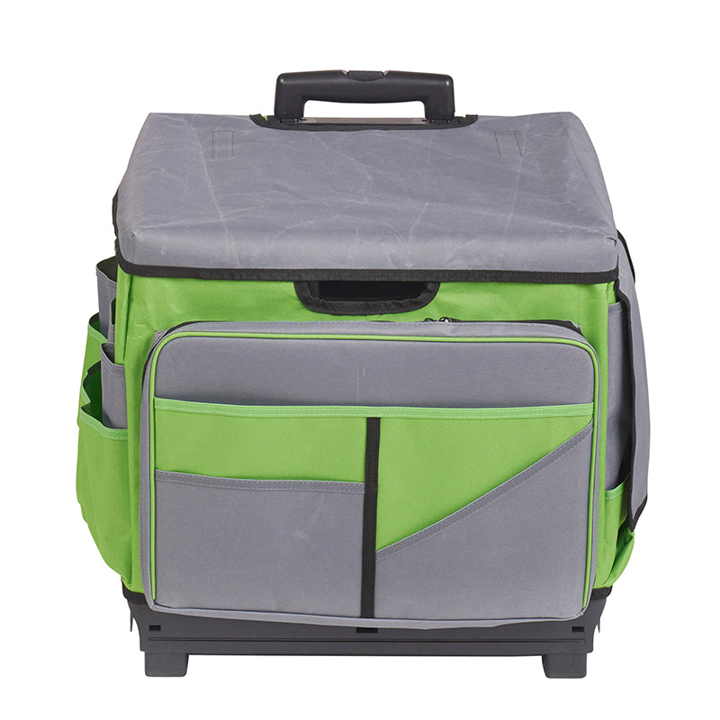 teacher rolling cart organizer gray green roll cart organizer bag elr0550bgn supplyme 27117