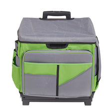 Universal Rolling Cart and Organizer Bag (Gray & Green)