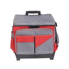 Universal Rolling Cart and Organizer Bag (Gray & Red)