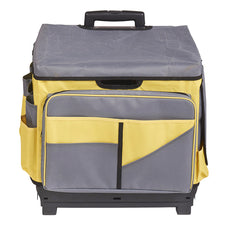 Universal Rolling Cart and Organizer Bag (Gray & Yellow)