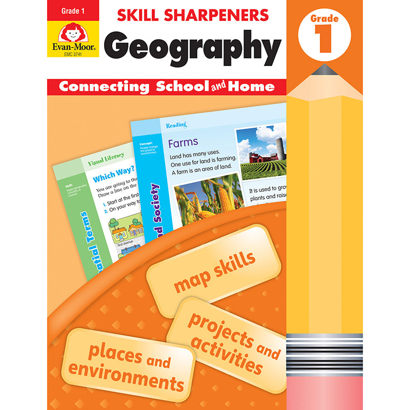 Skill Sharpeners: Geography, Grade 1