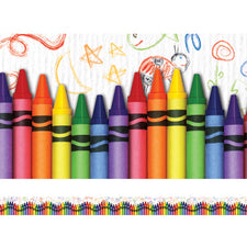 Layered-Look Border, Crayons