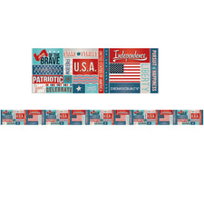 All About America Spotlight Bulletin Board Border