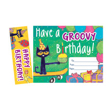 Pete the Cat® Groovy Birthday Bookmark Award