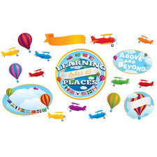 Learning Takes Us Places Bulletin Board Set