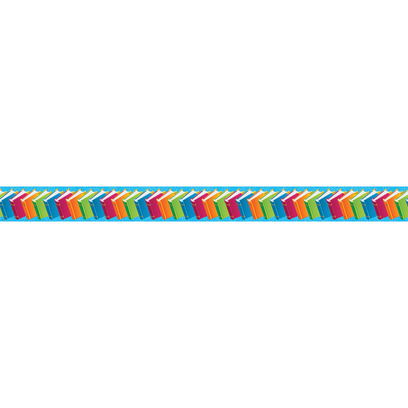 Colorful Books Bulletin Board Border Straight Ep 618r