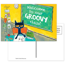 Pete the Cat® Welcome To Our Groovy Class Postcards
