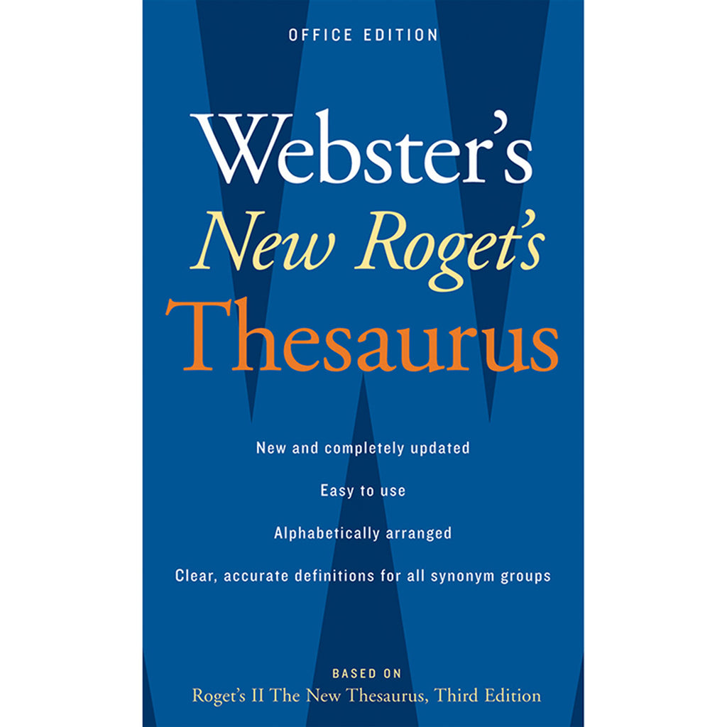 Houghton Mifflin Harcourt Websters New Rogets Thesaurus Office Edition