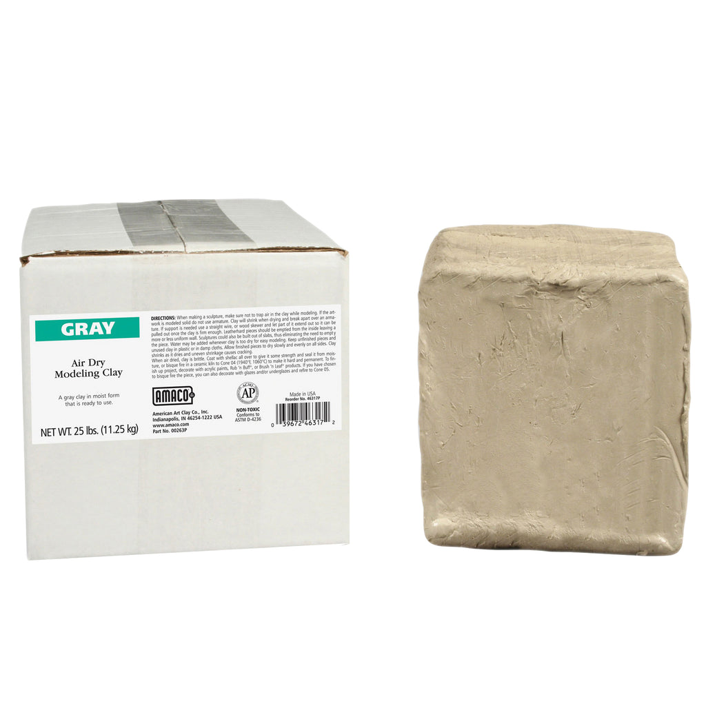American Art Clay Amaco Air Dry Clay Gray 25Lb