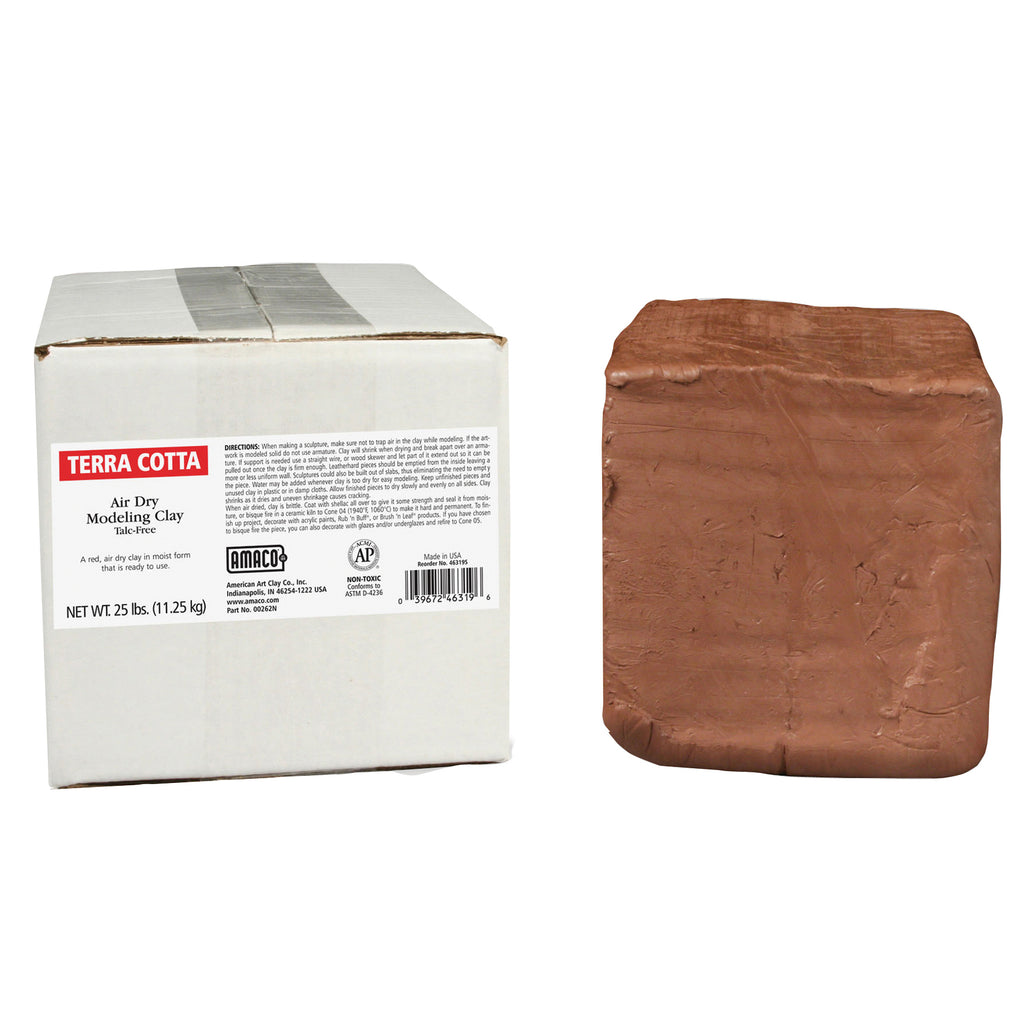 American Art Clay Amaco Air Dry Clay Terra Cotta 25Lb