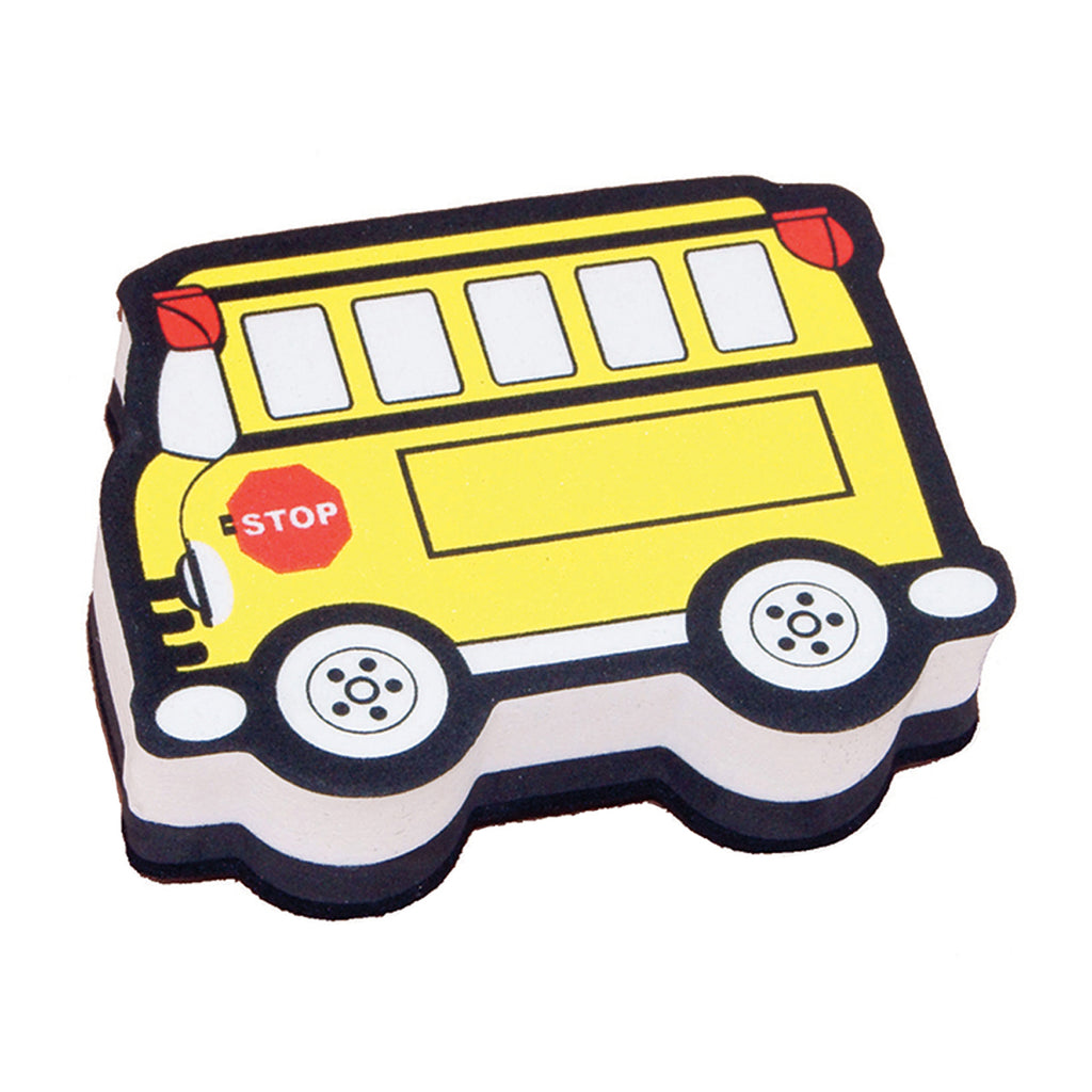 Ashley Productions School Bus Magnetic Whiteboard Eraser